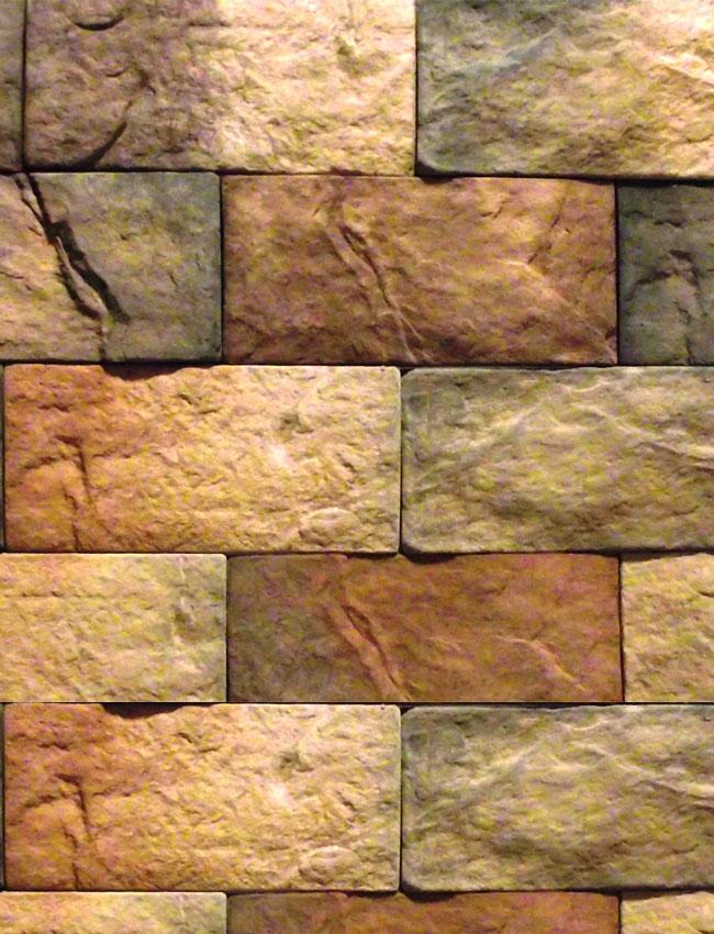 Декоративная плитка под кирпич Старинный камень 0802