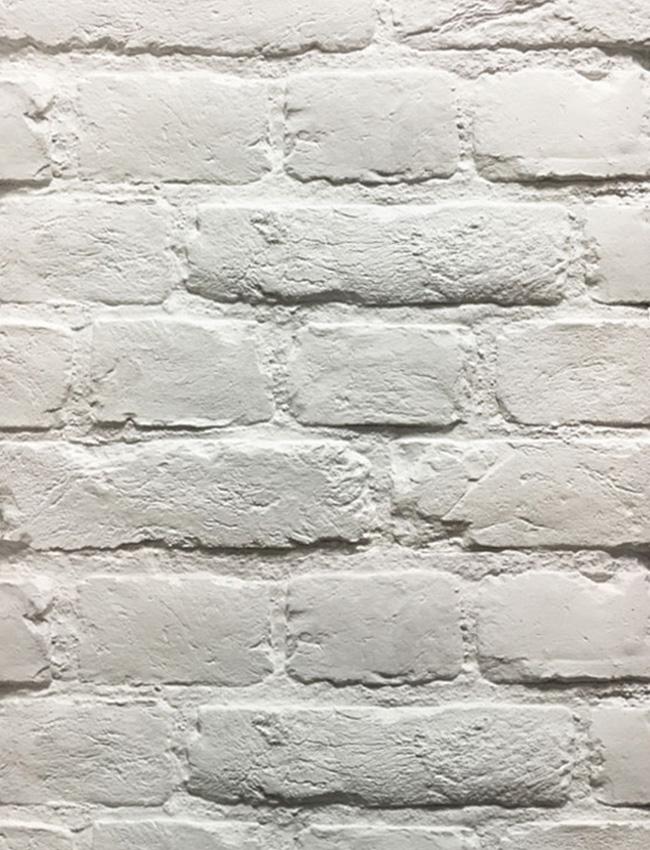 Гипсовая плитка под кирпич Loft White
