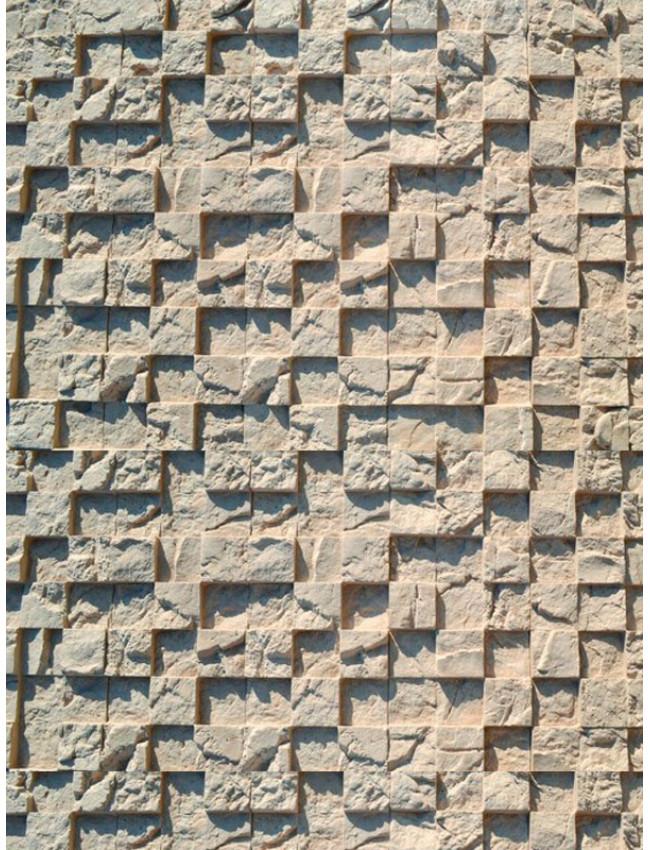 Гипсовая плитка 3D мозаика холодный беж