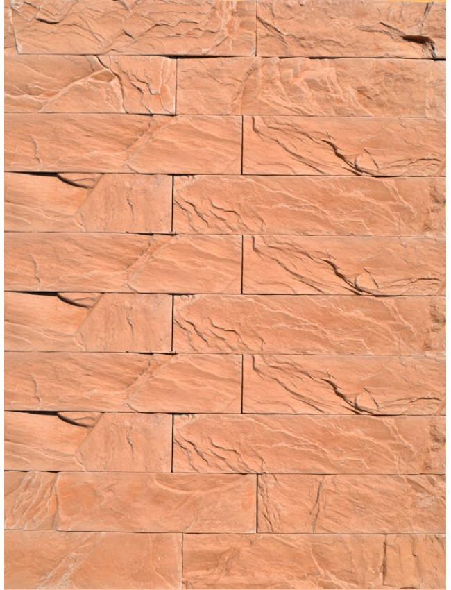 Гипсовая плитка под кирпич Уральский скол коричневый