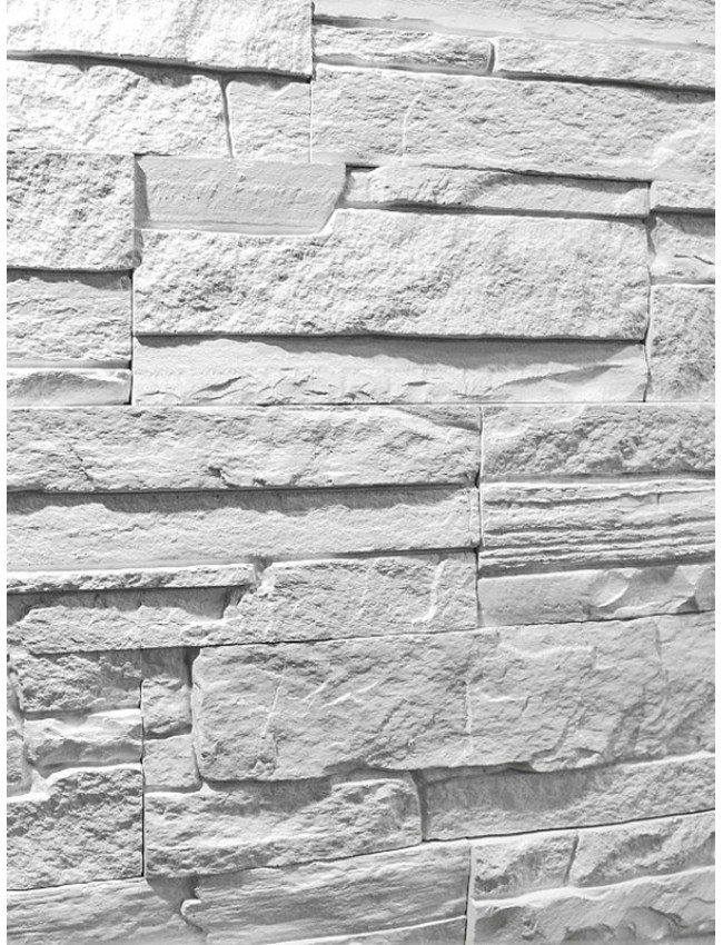 Гипсовый камень Сланец классический белый